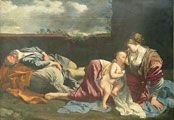 Rest on the Flight into Egypt.GENTILESCHI, Orazio.1628.Musée du Louvre.Paris.