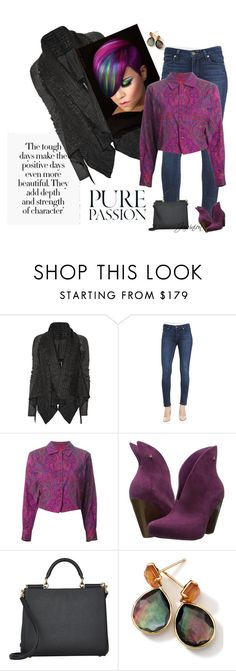 """Perilous Paisley"" by bubbasjewels ❤ liked on Polyvore featuring Rick Owens, Paige Denim, Kenzo, Vivienne Westwood, Dolce&Gabbana and Ippolita"