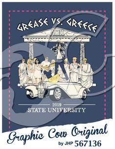Grease vs Greece hot rod t-birds toga parthenon mixer #grafcow