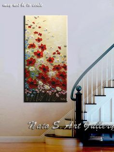 Decorate your home and office with the Original Wildflowers painting by Nata S. COMMISSION PAINTING - MADE TO ORDER: This piece is made to order and will look similar to the pictures above, since each painting is done by hand it will not look exactly the same. Each painting I create is
