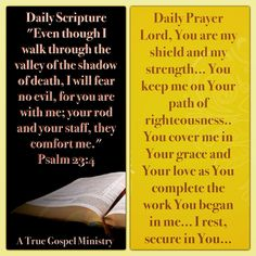 Daily Scripture and Prayer Psalms 23