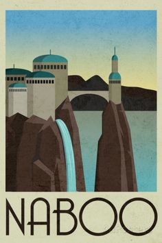 Naboo Retro Travel Poster Prints at AllPosters.com