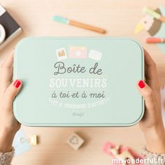 Boîte en métal de souvenirs à toi et à moi (FR)                                                                                                                                                                                 Plus