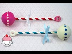 ▶ Baby Rattle Cake Pops! Make Cute Baby Shower Treats - A Cupcake Addiction How To Tutorial - YouTube