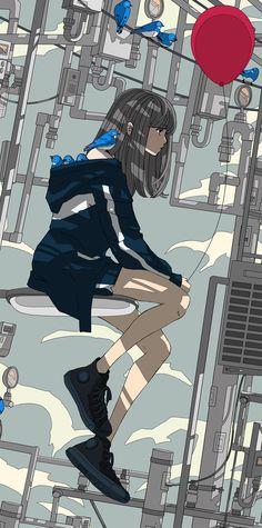 Anime Backgrounds Wallpapers, Anime Scenery Wallpaper, Animes Wallpapers, Cute Pastel Wallpaper, Cute Anime Wallpaper, Chobits Anime, Cute Art Styles, Kawaii Art, Pretty Art
