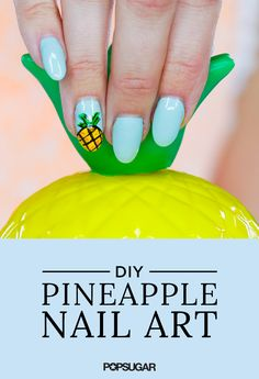 Pineapples are so trendy these days. We don't mind a little kitschy flair during the Summer — especially with our manicure. Watch this video to create the tropical fruit on your nails without a lot of fuss.