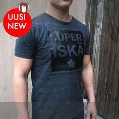 Kustomoitava t-paita Me We:n kaupassa vain 55 €. Materiaali ihanan pehmeää kierrätyskuitua. Unisex. www.mewe.fi 💙💜❤