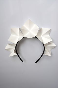 """Ice-Flower Crown"" white origami crown by FORD MILLINERY"