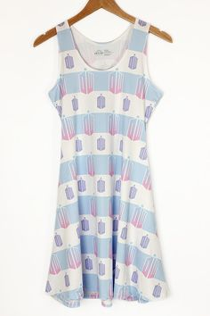 DOCTOR WHO Tardis Pastel Striped Sleeveless Dress - Available at https://www.etsy.com/shop/KYOCATclothing  #doctorwho #tardis #timelord