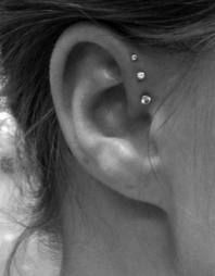 I can't express how much I LOVE LOVE LOVE this   Triple forward helix piercing