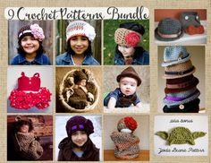 9 PDF Crochet Patterns Bundle and bonus Yoda by kariodesigns