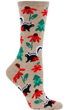 Skunks with Flowers Socks