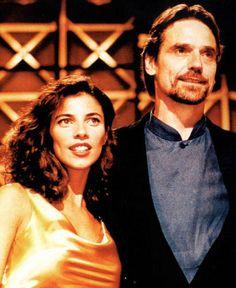 Maribel Verdú & Jeremy Irons at the San Sebastian Film Festival 1997.