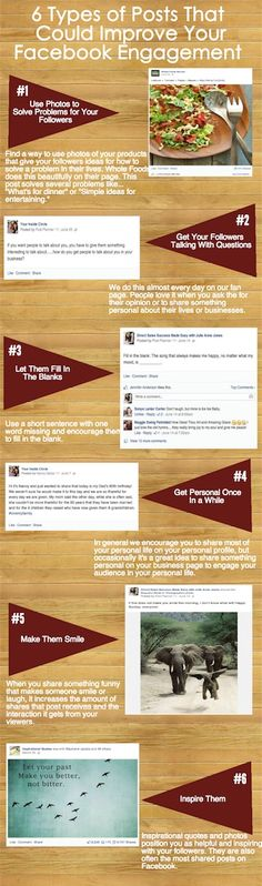 Infographic: 6 Types of Posts That Could Improve Your Facebook Engagement