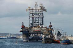 Puerto de Las Palmas. Gran Canaria     : Sedco Expres Transocean Plataforma de perforacion ...