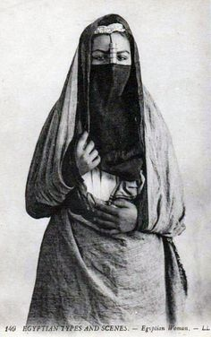 Africa | Types and Scenes ~ Egyptian Woman.  ca. 1900. || Vintage postcard; publisher L.L.  No 149