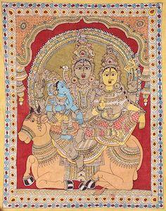 Indian Painting Styles...Kalamkari Paintings (Andhra Pradesh)-shivparvti1-8-.jpg