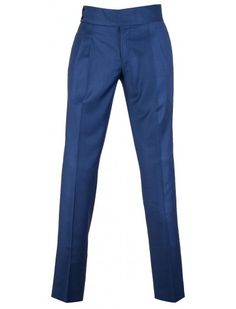 Super 150's Wool Pants by Giovanni Marquez - Royal