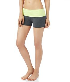 LLD Solid Fold-Over Yoga Shorts