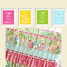 Kumari Garden You Are My Sunshine  My only Sunshine 4 pc Art Print Set 8x10 in  by YassisPlace