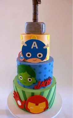 Avengers buttercream cake by Tuff Cookie Cakes