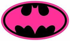 Batichica Rosa Retro, logotipo de Batman En Hierro de transferencia la camiseta de Dark Tejidos