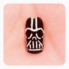 The Polish Geek: Star Wars Darth Vader inspired nail art (Tutorial)!!