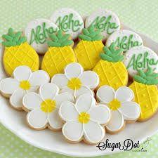 Resultado de imagen para hawaiian flower cookies