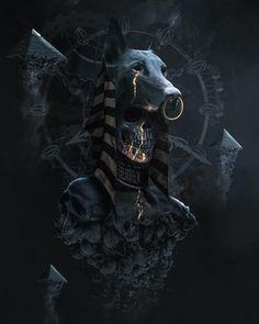 Gods of Egypt,Anubis - Gods of Egypt,Anubis -You can find Cinematography and more on our website.Gods of Egypt,Anubis - Gods of Egypt,Anubis - Anubis Tattoo, Egyptian Mythology, Ancient Egyptian Art, Egypt Art, Dark Fantasy Art, Gods And Goddesses, Horror Art, Skull Art, Mythical Creatures