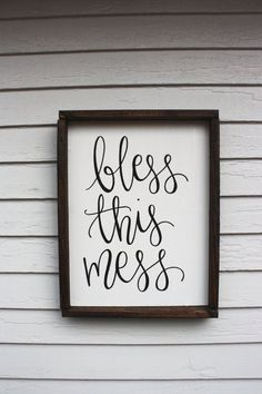 awesome Bless this Mess - Wood Sign   Custom Wood Sign   Rustic Wood Sign   Rustic Sign   Wall Art   Hand Painted Sign   Wood Framed Sign   Home by http://www.best99-homedecorpics.us/homemade-home-decor/bless-this-mess-wood-sign-custom-wood-sign-rustic-wood-sign-rustic-sign-wall-art-hand-painted-sign-wood-framed-sign-home/