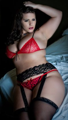 Beautiful BBW Lingerie Model