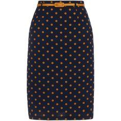 Yumi Polkat dot skirt found on Polyvore