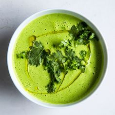 This gazpacho recipe yields a cool green zingy soup; you can pack it in a thermos on ice and take it picnicking or to the beach.
