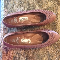 SHOES FROM BRAZIL Wide width, genuine leather flexible sole, padded low heel shoes. They were made in Brazil & have authentic flair to them! WILL PACK & SHIP ASAP! Leather Collection Shoes Heels