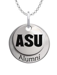 A beautiful layered charm set featuring your school logo on the top charm and Alumni on the bottom charm. We use the finest sterling silver and combine with high tech laser technologies to create this personalized collegiate necklace collection.