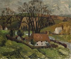 Christopher Wood (1901-1930) Cottage At Broadchalke, Wiltshire 1928 (50,8 x 61 cm)