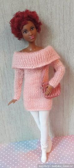 Ну где ты, лето! Вместо купальников теплая вязаная одежда / Куклы Барби, Barbie: коллекционные и игровые / Бэйбики. Куклы фото. Одежда для кукол
