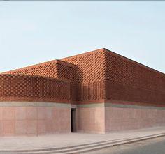 marrakech Musée Yves Saint Laurent by Studio_k O is a homage . - marrakech Musée Yves Saint Laurent by Studio_k O pays homage to… – architecture - Minimalist Architecture, Modern Architecture House, Facade Architecture, Modern Buildings, Facade Design, Exterior Design, Design Interior, Brick Facade, Brickwork
