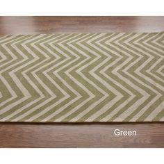 nuLOOM Handmade Alexa Chevron Wool Rug (5' x 8') | Overstock™ Shopping - Great Deals on Nuloom 5x8 - 6x9 Rugs