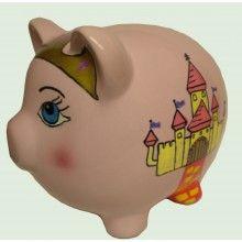 Princess Piggy Bank 7 inch Artist Original - $34.95
