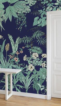 Ohmywall & Papier peint Jungle Tropical BORNÉO du duo d& Caddous& format big panoramique. Tropical Jungle Wallpaper BORNEO, this tropical forest has the spirit of an eden, you are into the wild nature Mermaid Wallpaper Backgrounds, Trendy Wallpaper, Wallpaper Iphone Cute, Nature Wallpaper, Wallpaper Jungle, Tropical Wallpaper, Painting Wallpaper, Borneo, Into The Wild