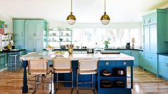 15 Colorful Kitchens Youll Wish Were Yours via Brit + Co