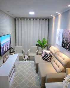 Sala de estar decorada: 70 incríveis ideias de decoração!