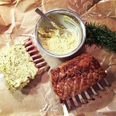 Mustard + Garlic + Rosemary Rack of Lamb #Recipe #BestEver