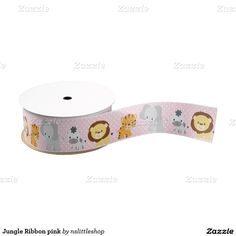 Jungle Ribbon pink Blank Ribbon
