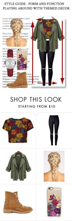 """Casual outfit"" by sharpcheddar1 ❤ liked on Polyvore featuring Alice + Olivia, Chicnova Fashion, UGG, Casetify and Burberry"