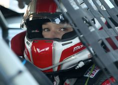 Molly focused and ready to hit the track.