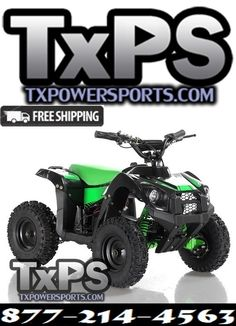 NEW Apollo VOLT 500 Watt Motor Electric ATV with Reverse. Free Shipping. Sale Price: $499.00