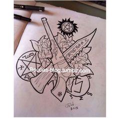 supernatural tattoos ideas supernatural addiction supernatural tattoo ...