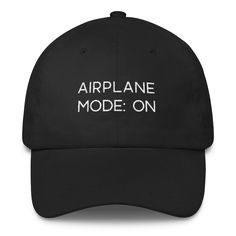0d14841f2dd AIRPLANE MODE  ON hat! Travel inspired baseball hat that is perfect for  travel